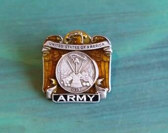 Vintage Army Pinback