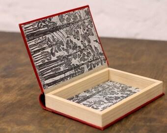 "Hollow Book Treasure Box Sherlock ""Red Antique"", Secret Hideout"