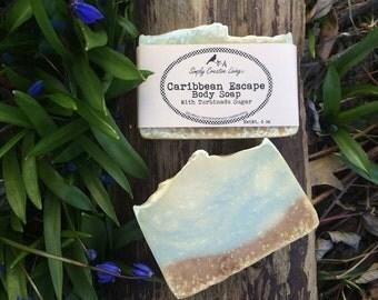 Caribbean Escape Body Soap - Walnut Shell Exfoliation