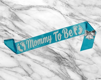Baby Shower Sash - Mom To Be Sash - Mommy To Be Sash - Its A Boy Sash - Gift For Mom