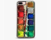 Watercolor Set iPhone 7 Case, iPhone 7 Plus Case, artistic Cell phone cover, Retail Packaging, best stocking stuffers