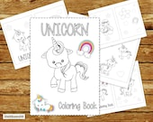 Unicorn Coloring Book Printable | Unicorn Birthday Party Coloring Book | Coloring Book Party Favor | Instant Download PDF