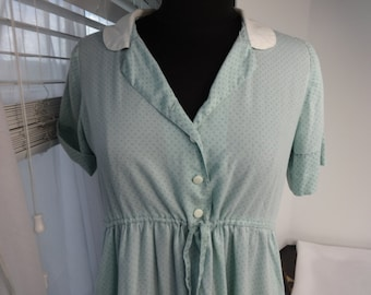 Vintage Shirt dress Size Small Womens Size or Teenage Girl A dress Handmade from a mans shirt w Pockets