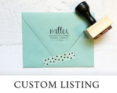 "Custom ""Handwritten"" Modern Calligraphy Address Stamp for Katie - Self-Inking"