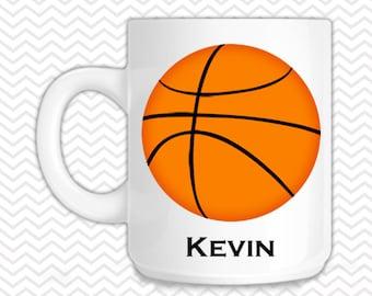 Basketball Mug - Personalized Basketball Mug - Customized Mug - Melamine Cup - Personalized Kids cup