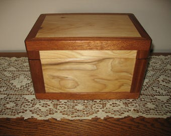 Hand Made Solid Wood Funeral Urn