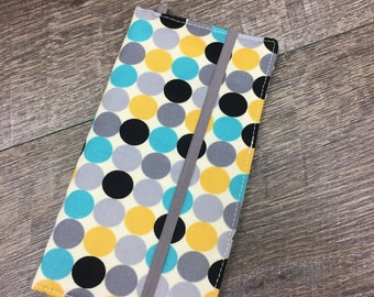 READY TO SHIP Blue and Grey Dot Smart Phone Wallet for iPhone/Samsung/Blackberry Christmas Gift for Women