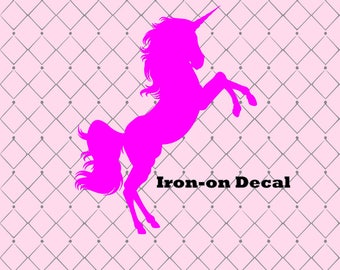 Heat Transfer Unicorn Iron On Decal Shirt Decal Banner Decal Vinyl Birthday Shirt Design Party Favor Design Unicorn Patch