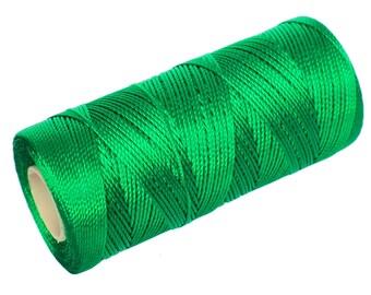 15 Meters Kelly Green Nylon Thread - Micro Macrame Cord - Crochet Thread