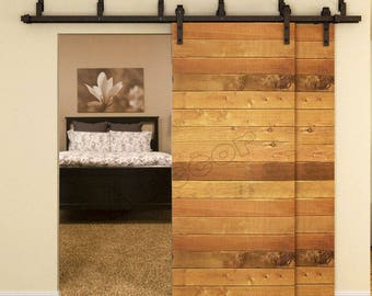 Barn Door Hardware Kit Bypass Two Doors With All Hardware ( bipass ) by-pass
