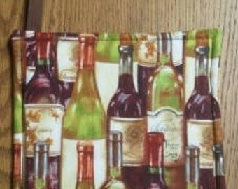 Pot Holder, Hot Pad, Fabric Pot Holder, Hanging Pot Holder, Decorative Pot Holder, Kitchen Pot Holder, Wine Bottles