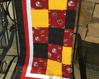 "South Carolina ""Gamecocks"" Crib Quilt"