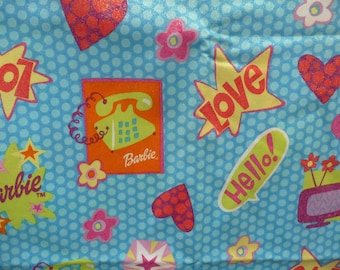 Barbie fabric, colorful Barbie print.