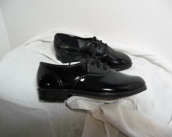 Black patent oxfords, Princeton Square shoes,