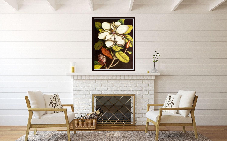 Vintage Magnolia No. 55 Botanical Print Home Decor Cottage