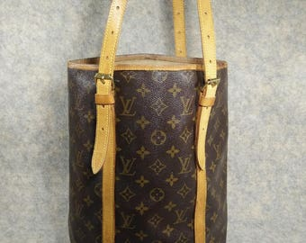 Louis Vuitton BUCKET GM Vintage 1997, Handbag Shoulder Bag, CanVas, Cowhide Good, Sticky Removed&Cleaned for Fully Useful, more photo inside