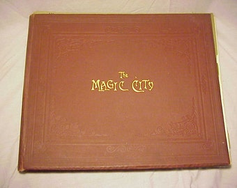 1893-94 The Magic City Chicago Worlds Fair Portfolio Historical Fine Art Series Volume 1 Number 1 through Number 18 in a hard cover folder