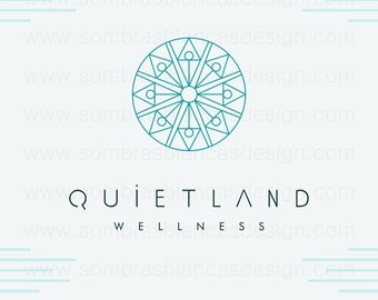 OOAK Premade Logo Design - Line Drawing - Perfect for an high end spa or a bath and body products brand