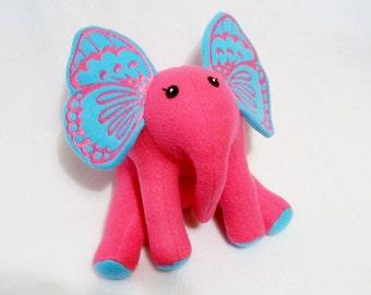 Butterfly ears elephant plush toy