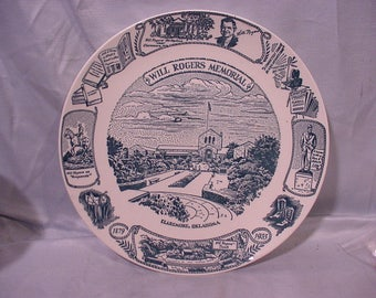 Commemorative Plate Will Rogers Memorial