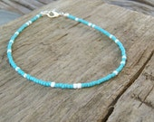 sea foam and white anklet beach wear surf aqua blue ocean summer vacation holiday wear
