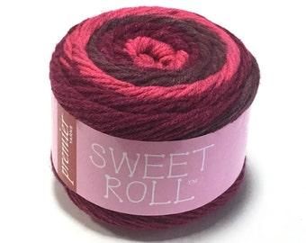 Premier Sweet Roll Yarn in Cherry Swirl Color Gradient Yarn