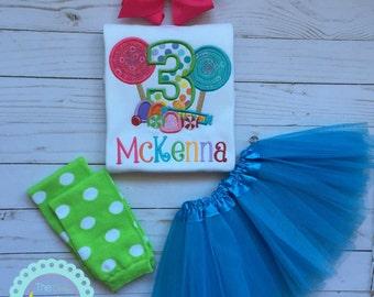 Lollipop Birthday Set -Monogrammed Lollipop Birthday Set-Girls1st birthday outfit-1st Birthday Bodysuit-Candy sweet shop party-photo prop