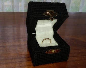 Cross Stitched Engagement Ring Box