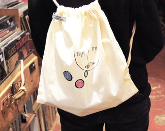 Cotton bag / Tote bag / Rucksack / Bubbles girl