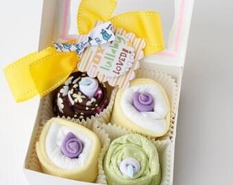New Baby Shower Gift Set - Onesie Cupcakes (Boy, Girl or Gender Neutral)