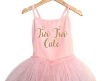 Two Two Cute birthday leotard tutu dress glitter sparkle ballet pink ballerina dress ballerina birthday outfit