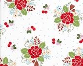 Rose Fabric - Sew Cherry 2 - Lori Holt Fabric - Riley Blake - Heart Fabric - Cherry Fabric