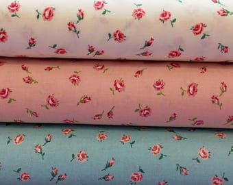 Old New 30s - Lecien Fabric - Rose Fabric - Reproduction Fabric - 31526
