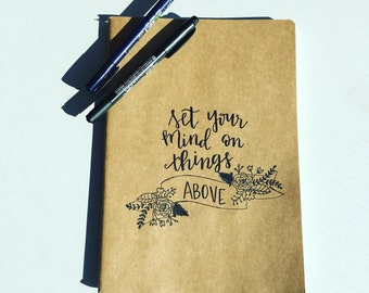 Set your mind on things above journal