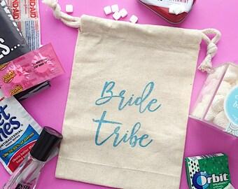 Bride Tribe favor bag - hangover kit- bachelorette kit - bridesmaid gift - bridal party favor - bachelorette favor - bride tribe favor bag