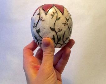 Vintage Hand Made Ceramic Bud Vase Pottery