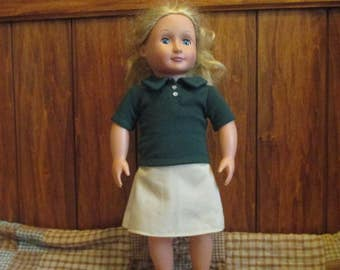 """Polo Shirt for your 18"""" American Girl Doll"""
