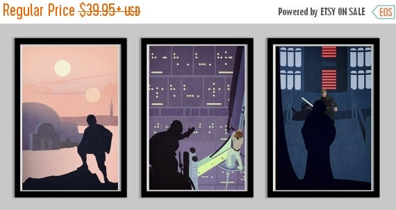 40% OFF WOW Star Wars A Hero's Quest Set of 3 Posters