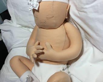 Realistic newborn cloth doll