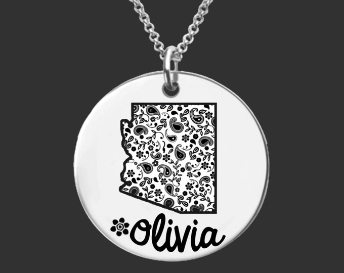 Arizona | State Necklace | Bridesmaid Gifts | Friend Gift | Daughter Gift | Best Friend Gifts | Personalized Gifts | Korena Loves