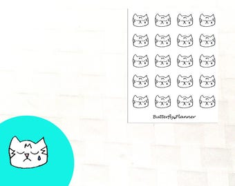 Sad Tiggero Doodle Stickers, Set of 20 Planner Stickers, Upset, Bad Day, Melancholy, Gloomy, Grieving, Hurt, Crying