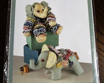 Indygo Junction - Yo-Yo Elephant and Stuffed Elephant Pattern