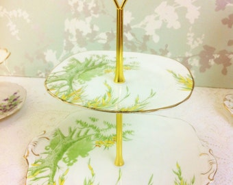 Willow Tree 2 Tier  Cake Stand