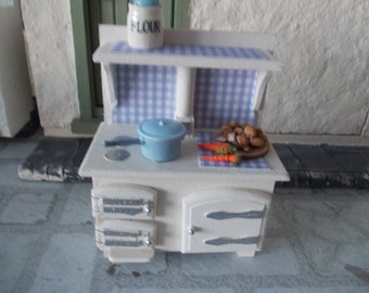 Dolls house  cooker arga style stove 1 12th scale miniature