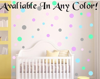 Small Polka Dot MULTI PACK Wall Decals For Kids Rooms, Nursery Decor, Bedrooms, 3 Different Sizes! 40 Colors!, peel and stick dots