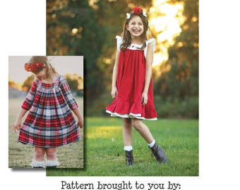Dreamy Collection- Holly Top & Dress PDF Sewing Pattern 1/2- 14