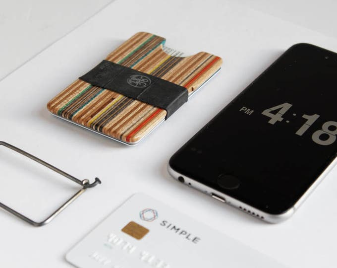 Recycled Skateboard Card Holder / Slim Wallet