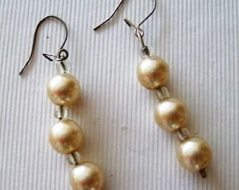 Vintage 1970s Pearl Drop Earrings Five Pound Bargain