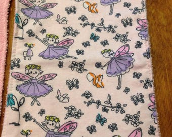 Fairies (Pink) Blankie/Burp Cloth