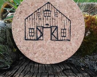Rustic barn coasters